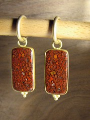 orange, metal, jewellery, gemstone, earrings, pendant,
