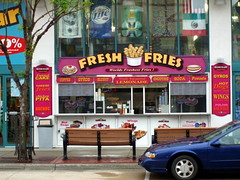 Fresh Fries Food Stand Downtown Wisconsin Dells.