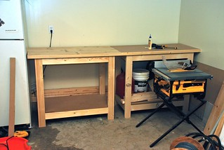 Both Work Benches in the Garage