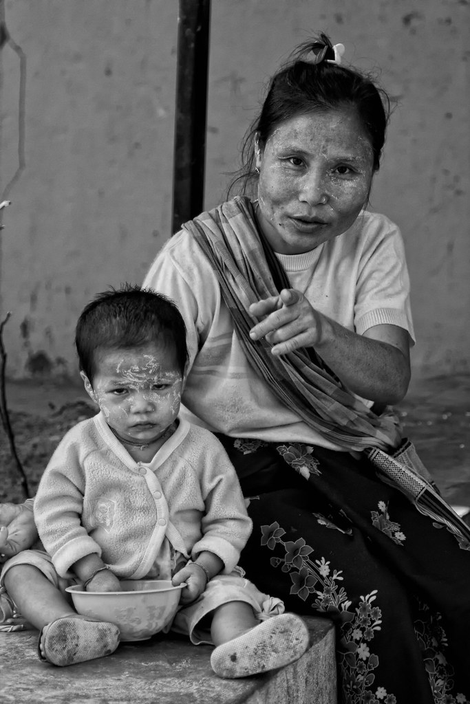 A Burmese Mother & Infant At Mae Tao Clinic