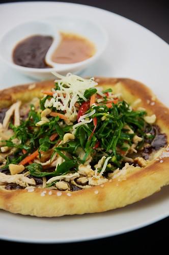 Thai Chicken Salad Pizza