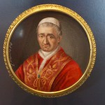 Plaque with Pope Gregory XVI