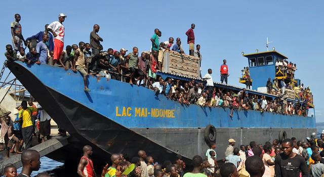 the good ship Lac Mai Ndombe