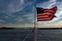 HARAHAN BIRDGE AND THE AMERICAN FLAG