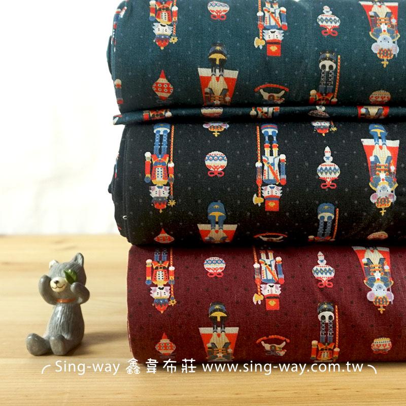 動物娃娃兵 胡桃鉗玩具兵 童趣 Q版軍官 手工藝DIy拼布布料 CA450668