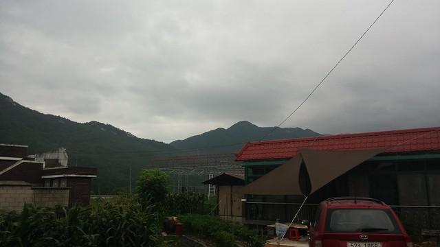 아침풍경 | 비구름가득한 하늘