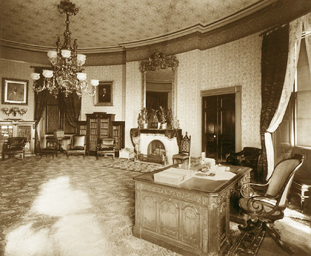 The Yellow Oval Room White House 1886 Flickr Photo