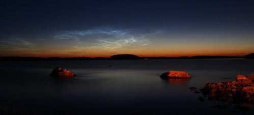lake nature night finland dark landscape stones silence saimaa carelia pseudopanorama
