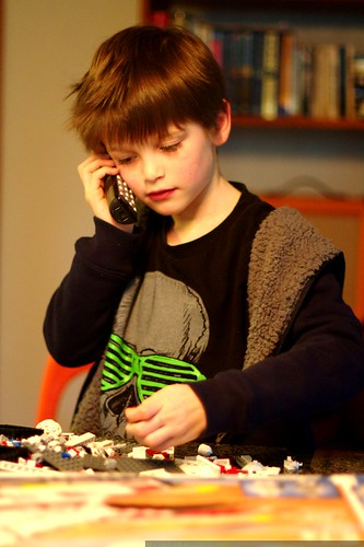 nick building lego star wars kit while on the phone with anna & chips    MG 2138