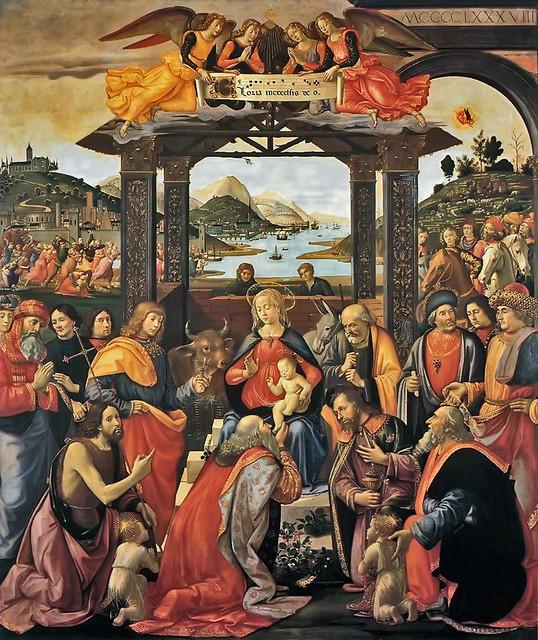 Domenico Ghirlandaio 1488 - Adorazione dei magi