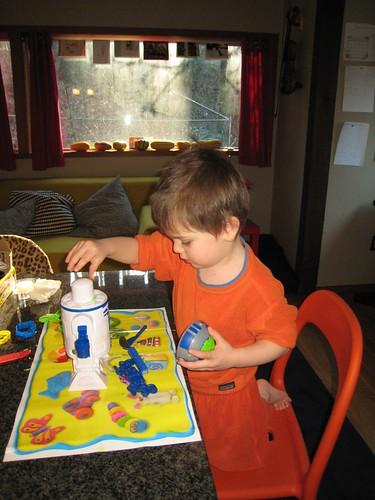 play doh, 3 year old, orange sweatshirt IMG_1869