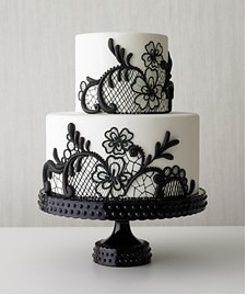 Black lace wedding cake - Best of wedding cakes 2009 - Real Simple Magazine