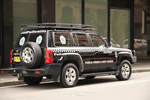 NSW Police Public Order & Riot Squad car - Random Sydney Street Photos