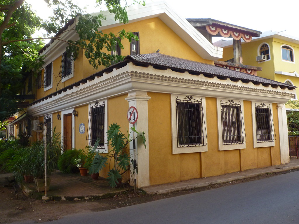 Colors building and villas on pinterest for Architecture design for home in goa