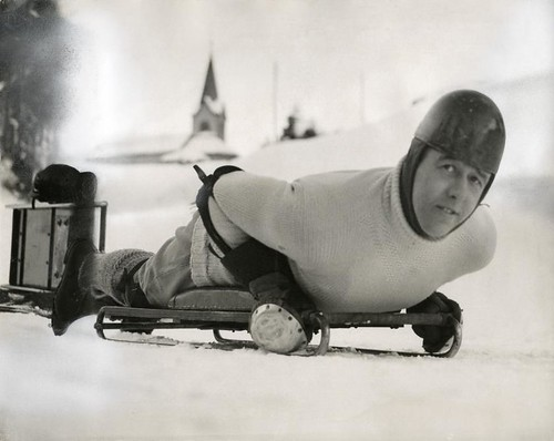 Lord Northesk in St. Moritz, Switzerland 1935
