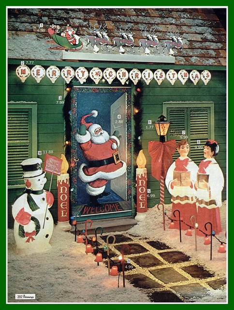 ... interesting photos from Vintage Christmas Decoration Catalogs pool