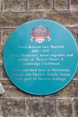 Photo of Gwen Raverat blue plaque
