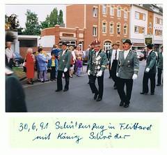 1991, Schützenzug, König Wilfried Schröder, SW123