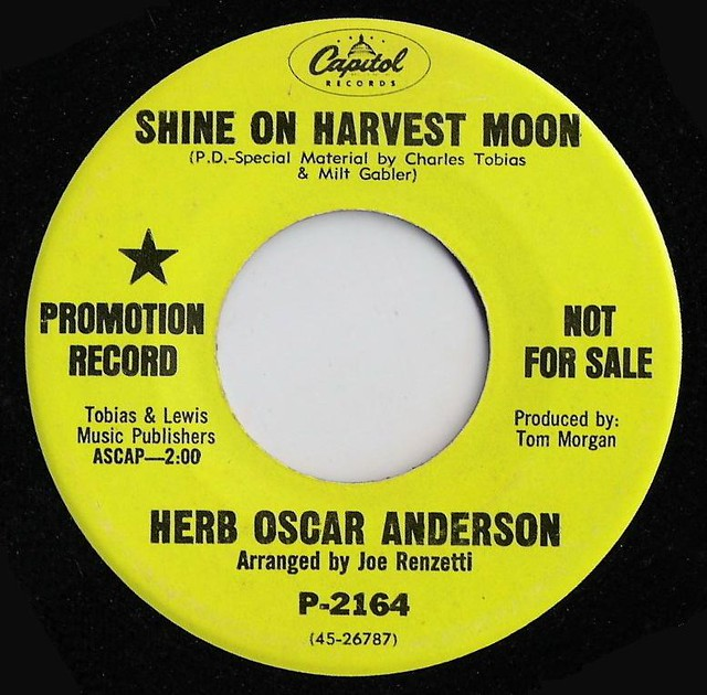 Herb Oscar Anderson - Shine On Harvest Moon / Let's Have A Community Sing
