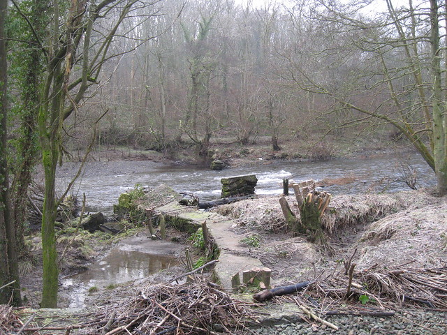 Looking out across the remains of the mill dam