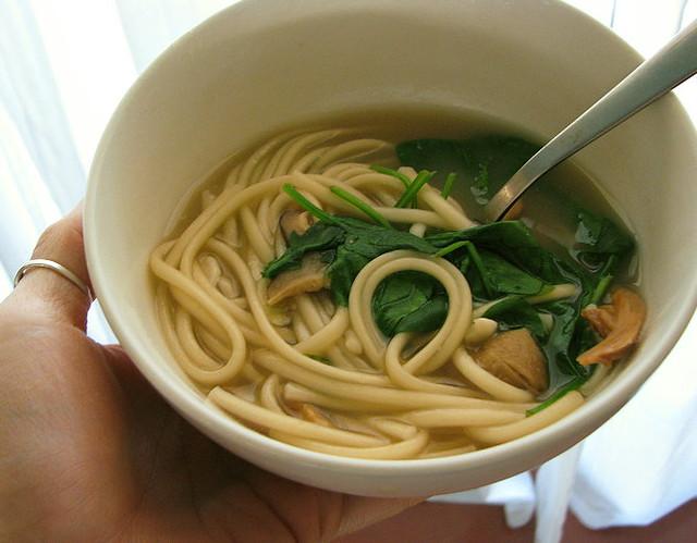 miso, mushroom & udon noodle soup | Flickr - Photo Sharing!