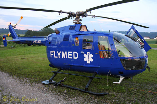 Airmed 2 at her base waiting to be towed into the hangar