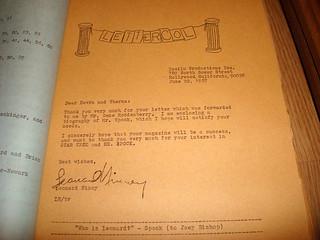 Fanzine Letter.
