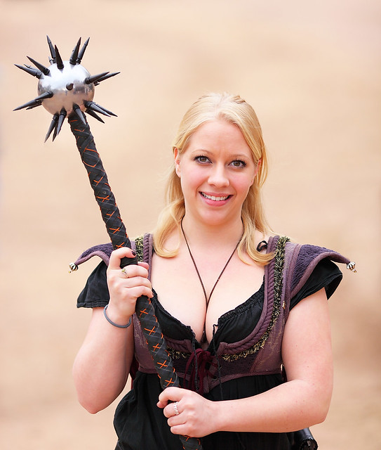Sexy Maiden with Two-Handed Spiked Battle Mace 2010 AZ Ren Fest