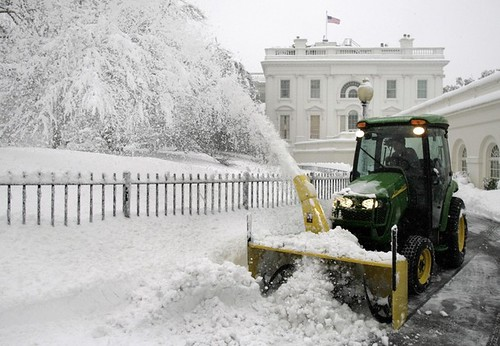 Snow removal at the White House