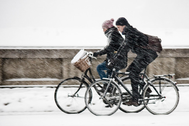 Overtaking - Cycling in Winter in Copenhagen