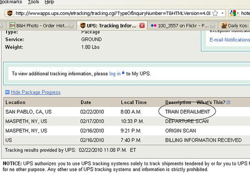 UPS Shipping Update