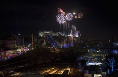Fireworks over Edinburgh