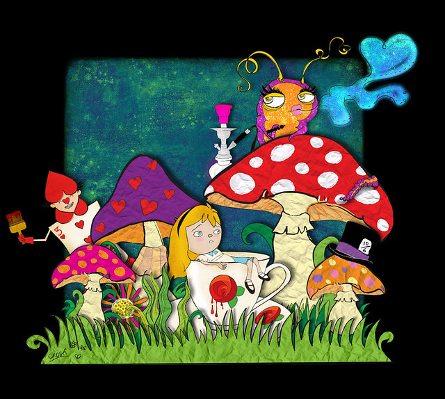 disney-alice-in-wonderland-caterpillar-on-mushroom