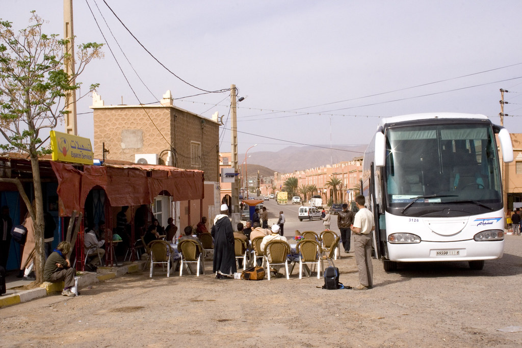 CTM bus stop in Agdz, Morocco  (IMG_1407)