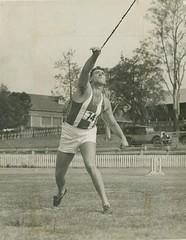 Javelin thrower C. O'Neill at Lang Park, Brisbane