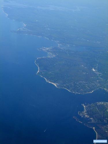 America coastline , aerial photograph