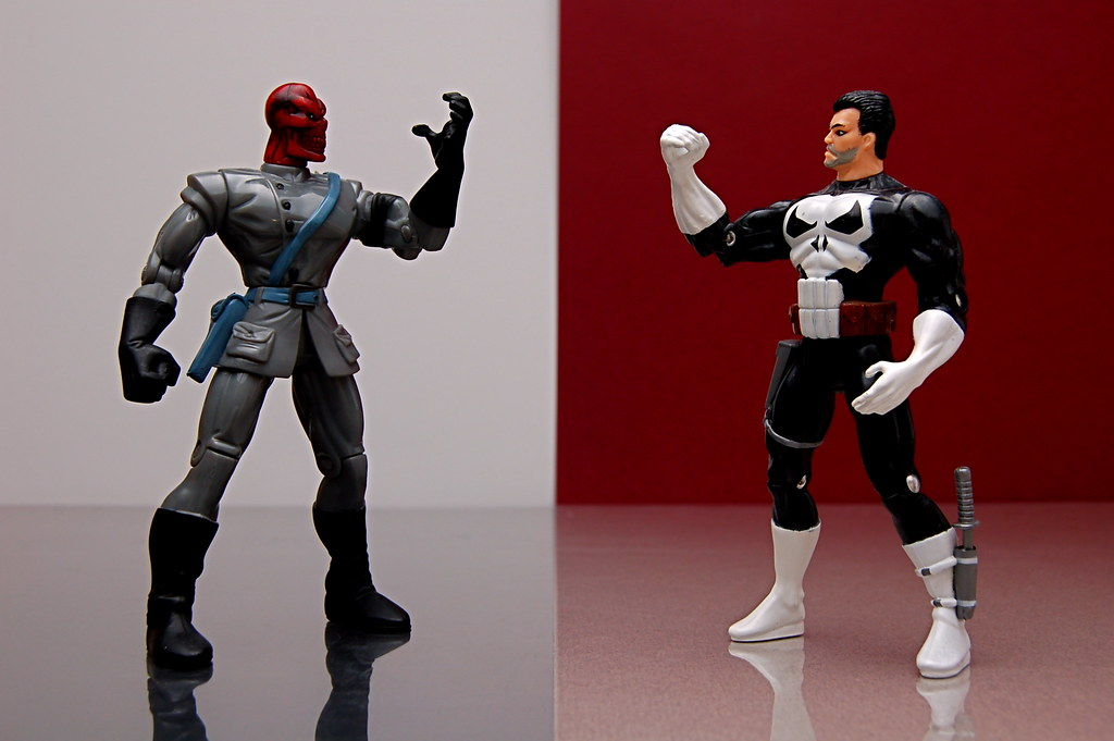 Red Skull vs. Punisher (104/365)