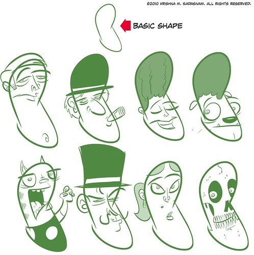 Character Design Using Basic Shapes : The pc weenies pushing concepts using same basic shape