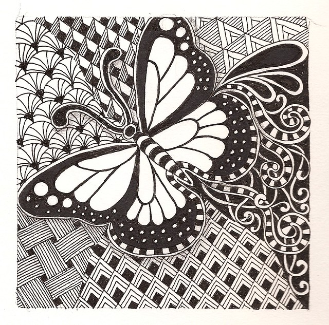 Beautiful ZentanglesZentangles Butterfly