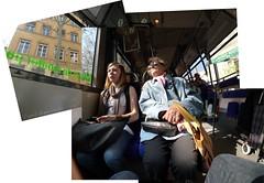 Bus tcl à Lyon Hockney style
