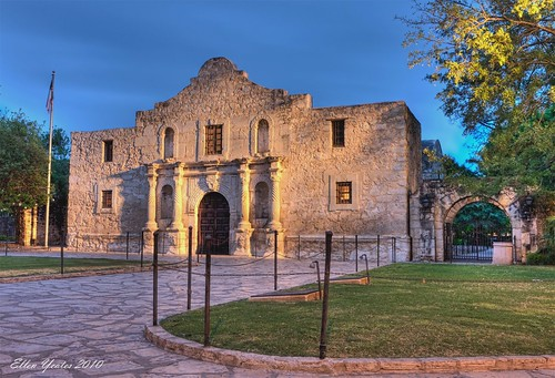 old blue building sanantonio sunrise canon ellen san texas post cloudy mark iii mission antonio alamo 1ds hdr yeates canonmarkiii1ds