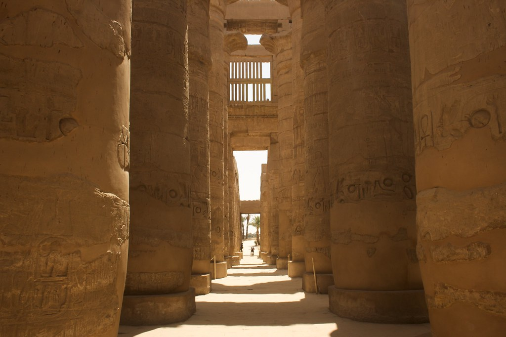 Columnas del Templo de Karnak, Egipto. Foto: Santiago Samaniego