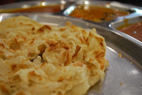 Fluffy close-up - Roti Canai - Mega Curry House MYR1.30
