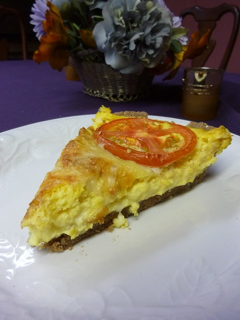 Corn Quiche with a Tef Crust