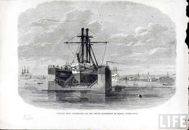 1866 - Floating dock constructed for the French Government at Saigon, Cochin-China