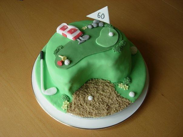 Golf themed cake for Dads 60th Birthday  Flickr - Photo Sharing!