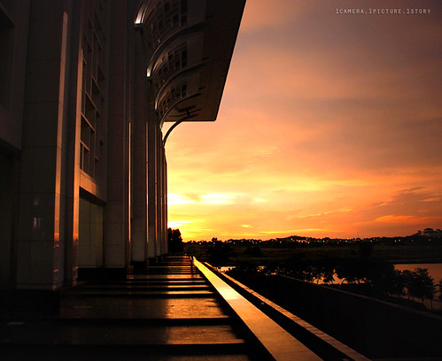 Steel Mosque (Masjid Besi) || The Sunset