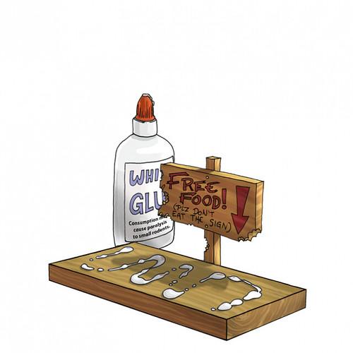 Tacky Glue Trap