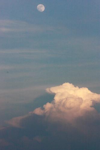 sunset sky moon skyline night clouds canon lightning storms lunar xsi lent454