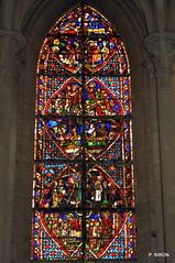Vitrail de la vie de St-Marcouf - Cathédrale de Coutances - Manche - Basse Normandie